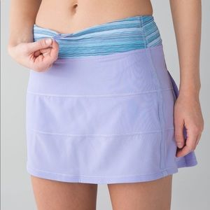 Lululemon Pace Rival Skirt II Tall Lilac Wave